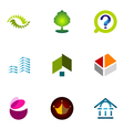 logo design elements set 34 vector image