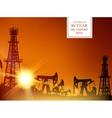 Oil derrick infographic vector image vector image