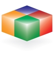 Abstract 3d logo of four cubes vector image