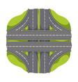 autobahn single icon in cartoon styleautobahn vector image