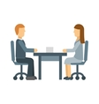 Business lunch meeting in a cafe restaurant table vector image