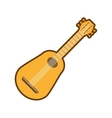 cartoon guitar musical instrument icon vector image