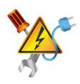 electricity symbols vector image