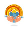 Lord Ganesha Elephant yoga Elephant yogi meditates vector image