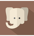Modern Flat Design Elephant Icon vector image
