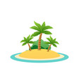 nature landscape of tropic island with sand beach vector image