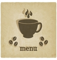 old background with coffee vector image