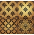 Set of Seamless Pattern In Damask style vector image