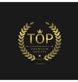 Top golden label vector image