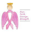Breast Cancer Awareness Month Background vector image