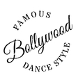 Famous dance style bollywood stamp vector image