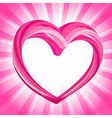 Valentines background abstract pink heart shape vector image