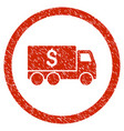 money delivery rounded grainy icon vector image