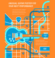 a map a poster a guitar vector image