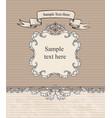 floral vignette border vintage frame card vector image