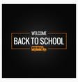 Back to school line logo background vector image
