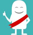 Animated personality award ribbon vector image