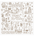 Hand drawn Birthday elements Set of birthday party vector image