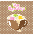 marshmallow hot chocolate vector image