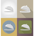 objects for food flat icons 01 vector image