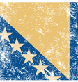 Bosnia and Herzegovina retro flag vector image vector image