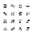 business communication - flat icons vector image