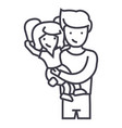 father with daughterdad with kid line icon vector image