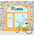 fitness club building vector image