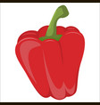 fresh red pepper vegetable isolated icon pepper vector image