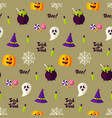 happy halloween holiday seamless background vector image