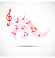 Icon of wavy music in color vector image