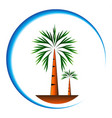 palm trees icon cartoon vector image