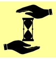 Save or protect symbol by hands vector image