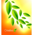 shiny nature background vector image