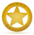 star texas ranger vector image
