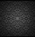 Vintage black ornamental background vector image