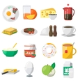 Breakfast Colorful Icons vector image