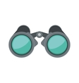 front view binoculars with blue glasses vector image