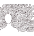 long hair beauty girl vector image