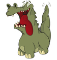 Green cheerful crocodile vector image vector image
