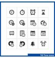 Date and time icons set vector image
