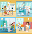 medical care square concept vector image
