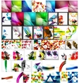 Large super set of abstract backgrounds vector image vector image