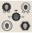 Hop craft beer sign symbol label element vector image