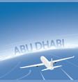 abu dhabi flight destination vector image