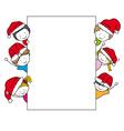 children dressed as santa claus vector image