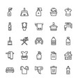 cleaning icons 1 vector image