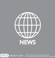 globe symbol news Symbol news Icon globe planet vector image