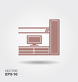 living room with tv icon vector image