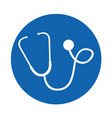 round icon stethoscope cartoon vector image